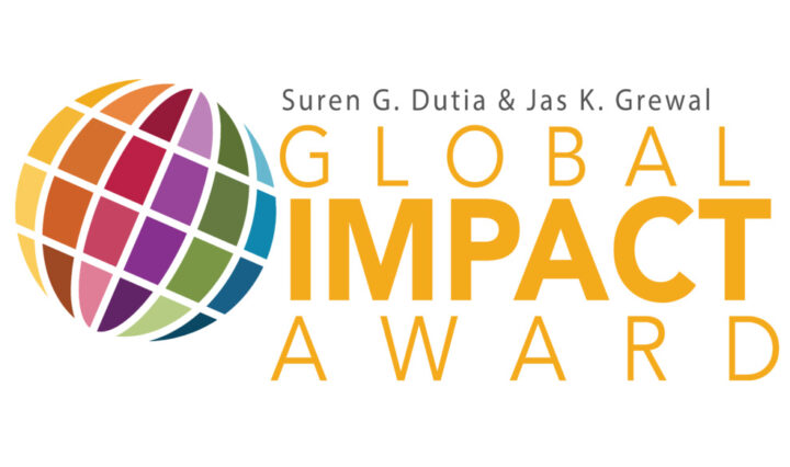 Colorful logo for Global Impact Award